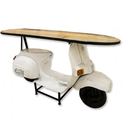 Compteur de moto Vespa blanc
