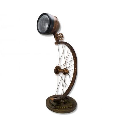 Industrielampenrad und Fokus