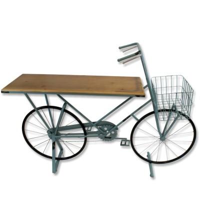 Bicicleta mostrador metalica azul