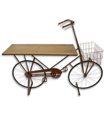 Bancone in metallo rosso per bicicletta