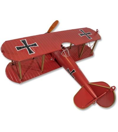 Avião metálico decorativo Baron Vermelho