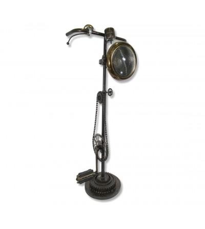 Lámpara industrial piezas bicicleta y foco