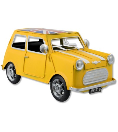 Mini carro metálico amarelo