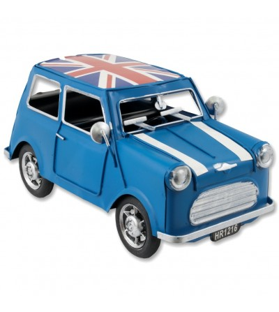 Blue Mini metallic car