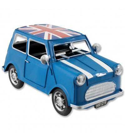 Coche metálico Mini azul