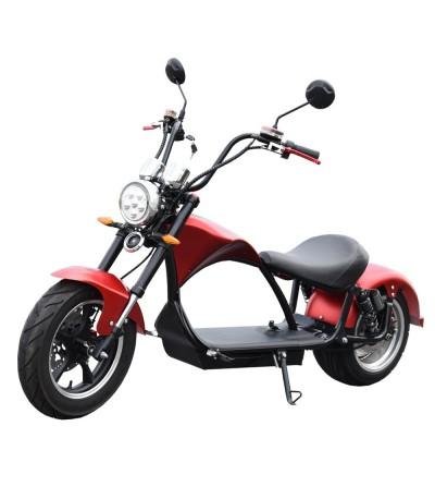 E-chopper registered electric motorcycle, 2000w, 20Ah. Red