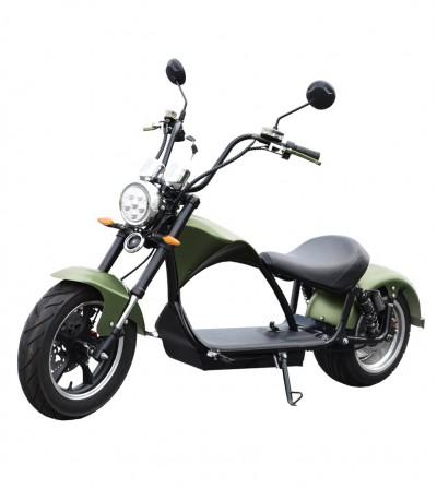 Motocicletta elettrica registrata E-chopper, 2000w, 20Ah. verde