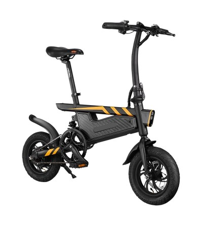 Bicicleta eléctrica T18, amortiguador trasero, 25 km/h, autonomía 35 km