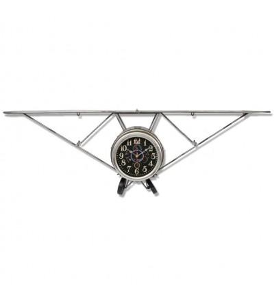 Relógio vintage de avião de metal