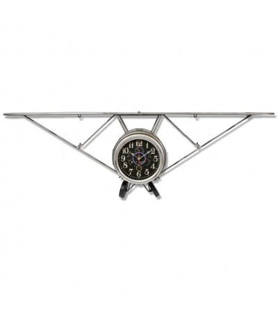 Vintage metal plane front clock