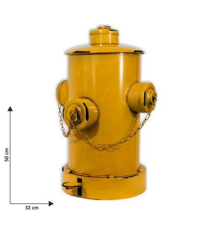 Papelera boca de incendios amarilla