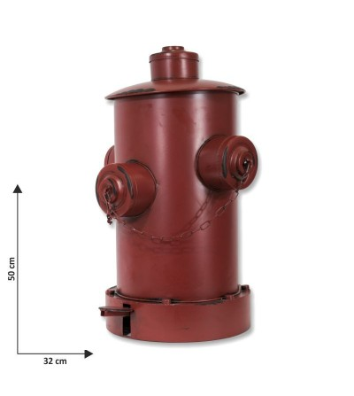 Red fire hydrant bin