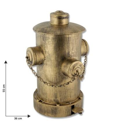 Papelera boca de incendios oro viejo