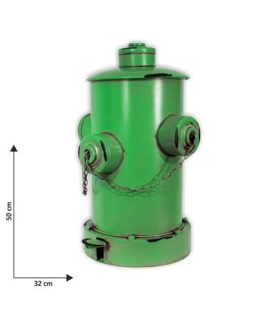Papelera boca de incendios verde