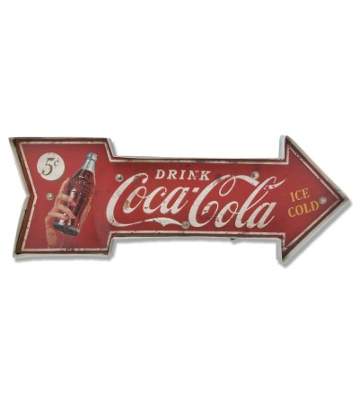 Decorative vintage arrow metal plate.