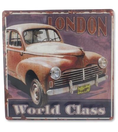 Decorative vintage metal plate.
