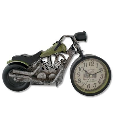 Green Harley Davidson motorcycle metallic watch
