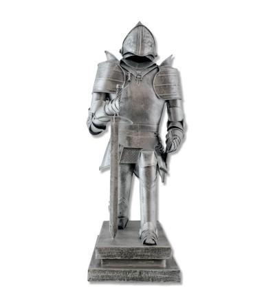 Metallic warrior figure