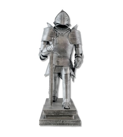 Figura guerrero metálica