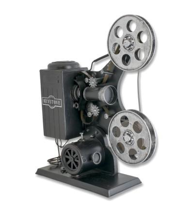 Proyector de cine metálico antiguo decorativo