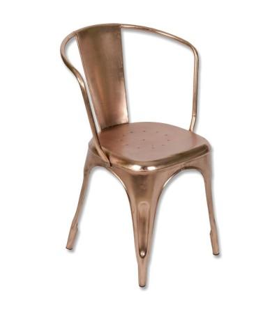 Silla vintage metálica color cobre