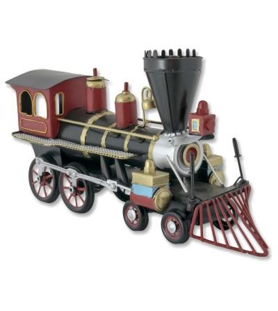 Locomotora metálica decorativa