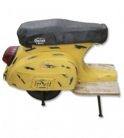 Taburete scooter vintage amarillo