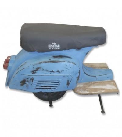 Taburete scooter vintage azul