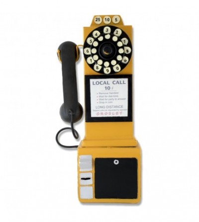 Teléfono metálico decorativo
