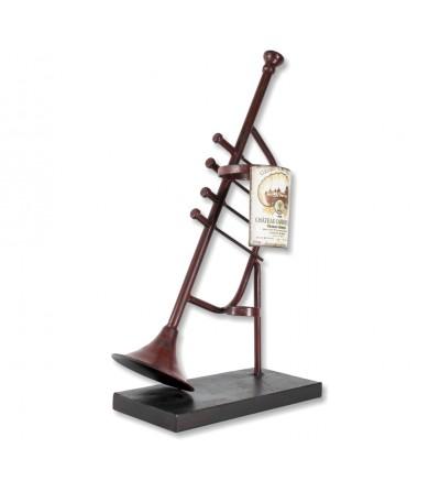 Trumpet bottle rack
