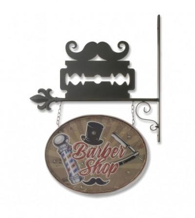 """Brown vintage """"Barber Shop"""" plaque"""