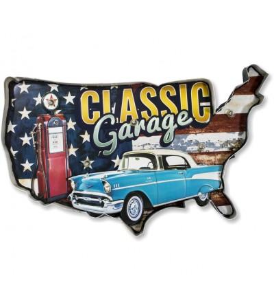 Cadillac vintage dipinto a rilievo