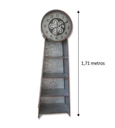 Mueble auxiliar metal galvanizado con reloj