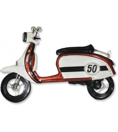 Scooter decorativa de metal