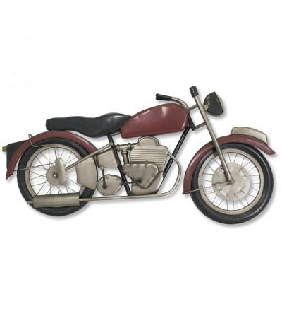 Moto décorative rouge
