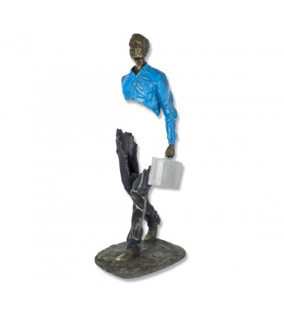 Bruno Catalano Skulptur Mann Aktentasche