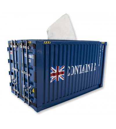 container tissues blue