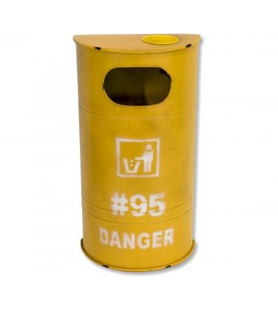 Yellow drum bin
