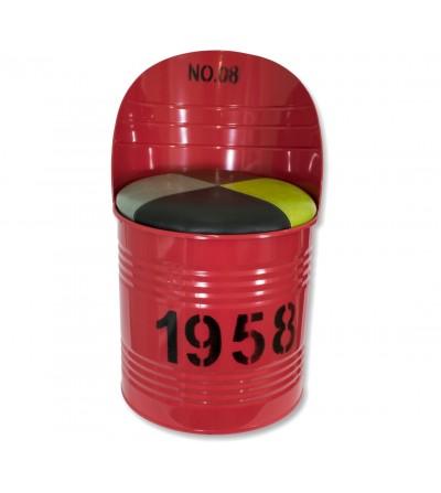 Roter Flaschenstuhl