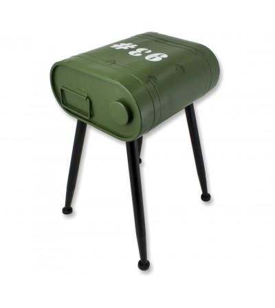 La benzina verde può tavolino laterale