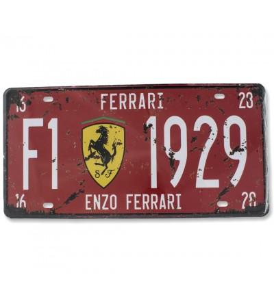 Assiette Ferrari 30x15