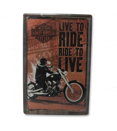 Placa Harley 40x60