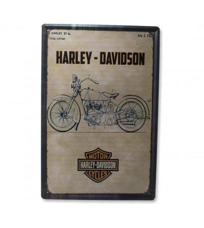 Harley-Abzeichen 40x60