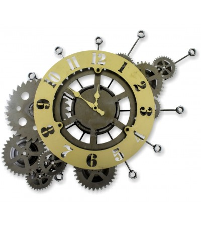 Horloge à engrenages clairs