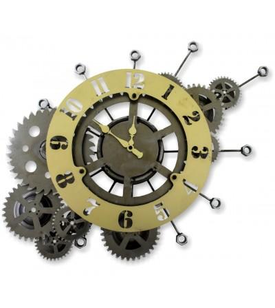 Orologio con ingranaggi trasparenti