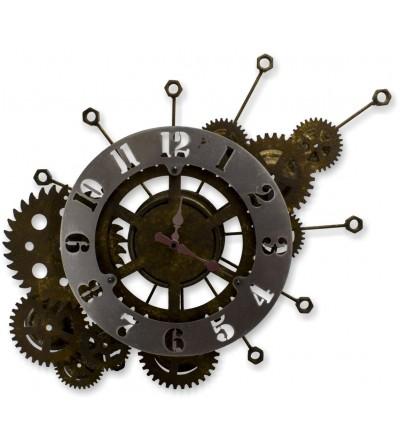 Horloge engrenages sombres