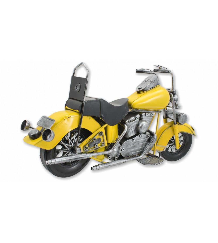Moto decorativa amarela