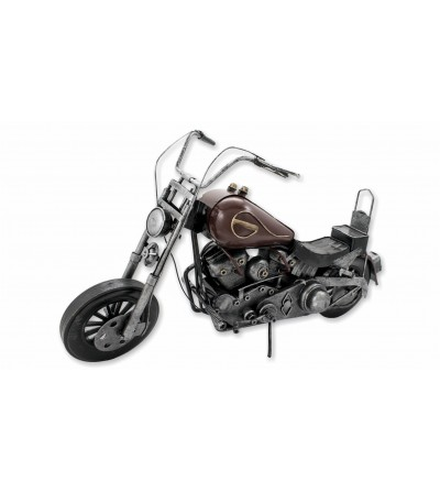 Dekoratives braunes Motorrad