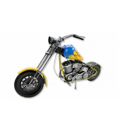 Moto décorative jaune