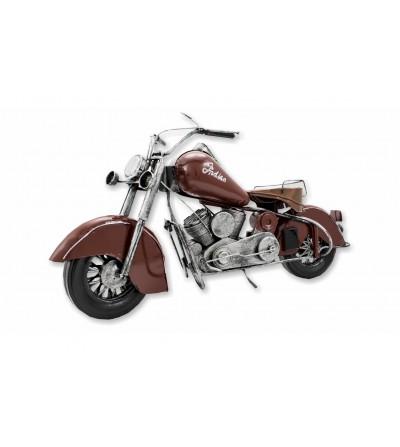 Motocicleta marrom decorativa